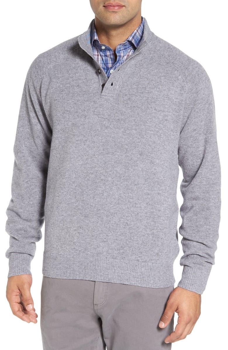 PETER MILLAR Wool Henley Sweater, Main, color, 022