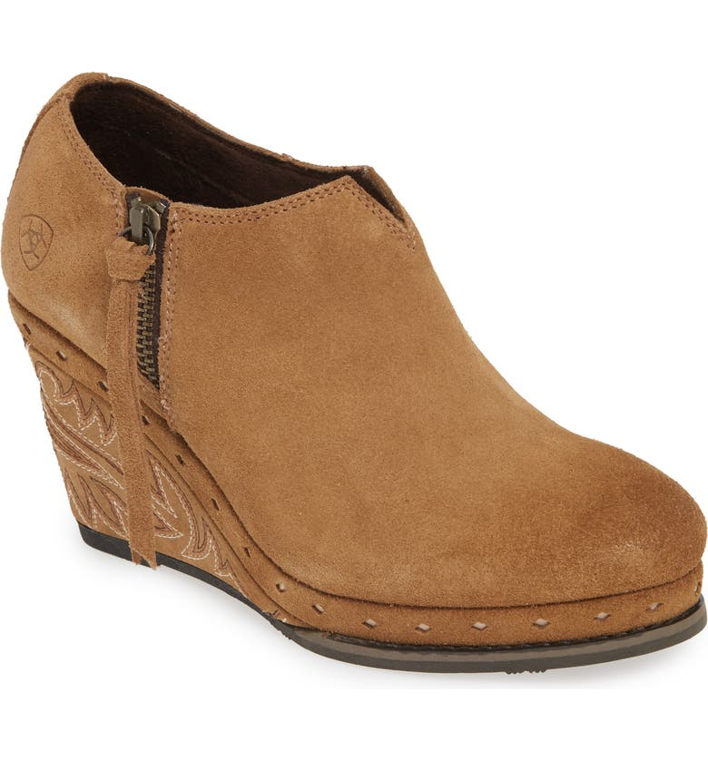 ARIAT Briley Wedge Bootie, Main, color, 200