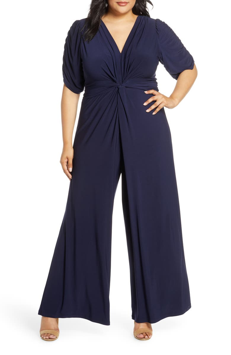 VINCE CAMUTO Ruched Sleeve Jumpsuit, Main, color, 410