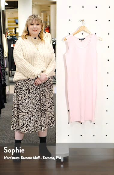 Sleeveless Knit Tank Dress, sales video thumbnail