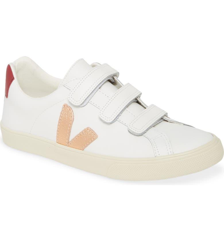 VEJA Esplar 3-Lock Sneaker, Main, color, EXTRA-WHITE/ VENUS/ MARSALA