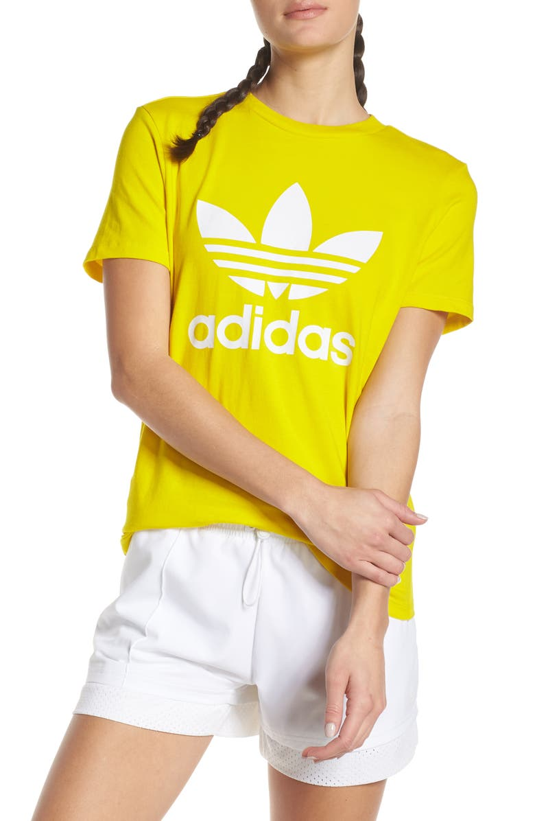 ADIDAS ORIGINALS adidas Trefoil Tee, Main, color, YELLOW