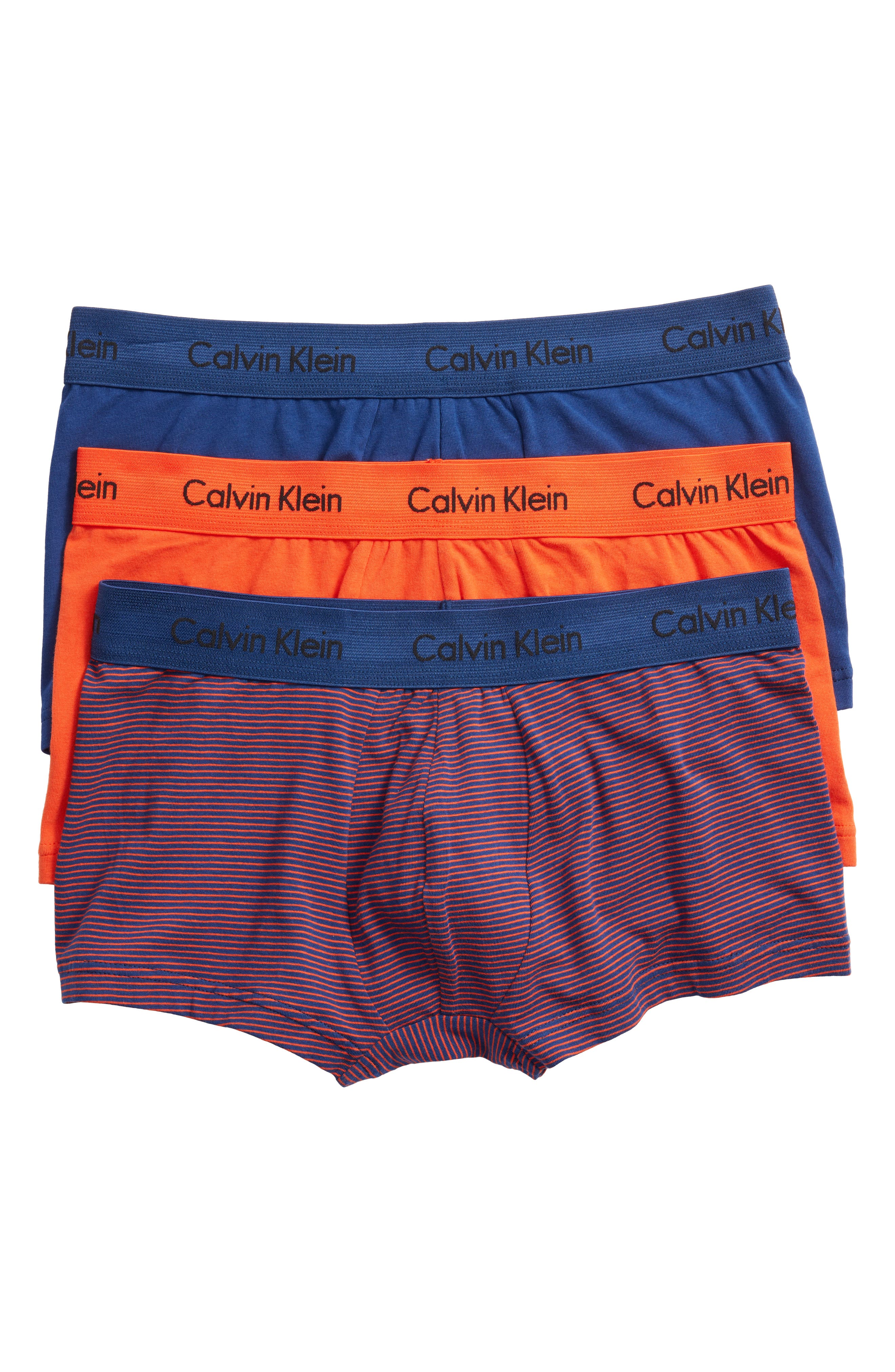 ,                             3-Pack Stretch Cotton Low Rise Trunks,                             Main thumbnail 145, color,                             888