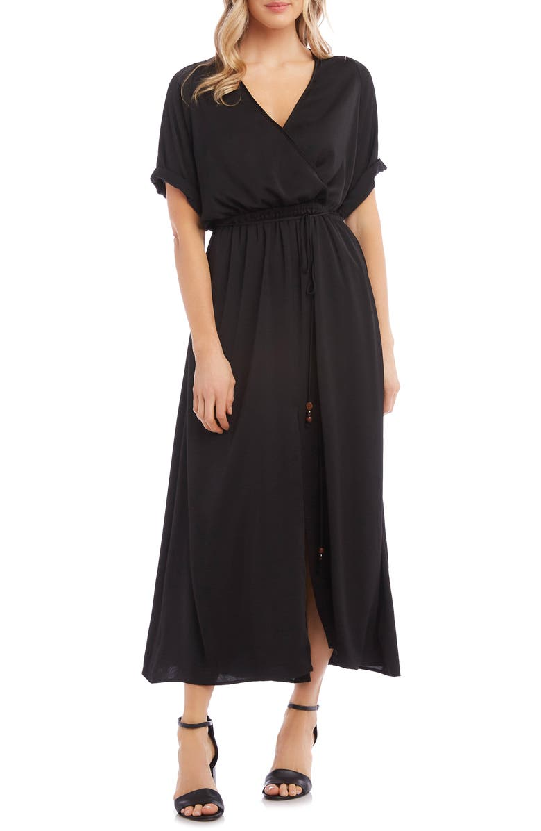 KAREN KANE Cuffed Sleeve Midi Dress, Main, color, 001