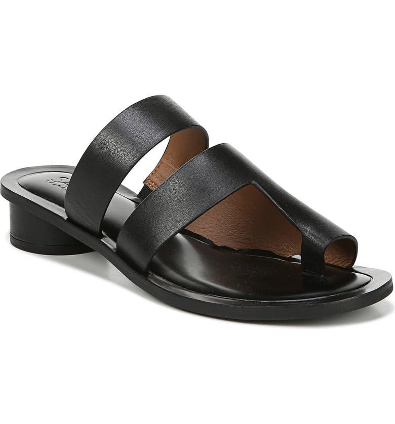 SARTO BY FRANCO SARTO Trixie Slide Sandal, Main, color, BLACK VACHETTA LEATHER