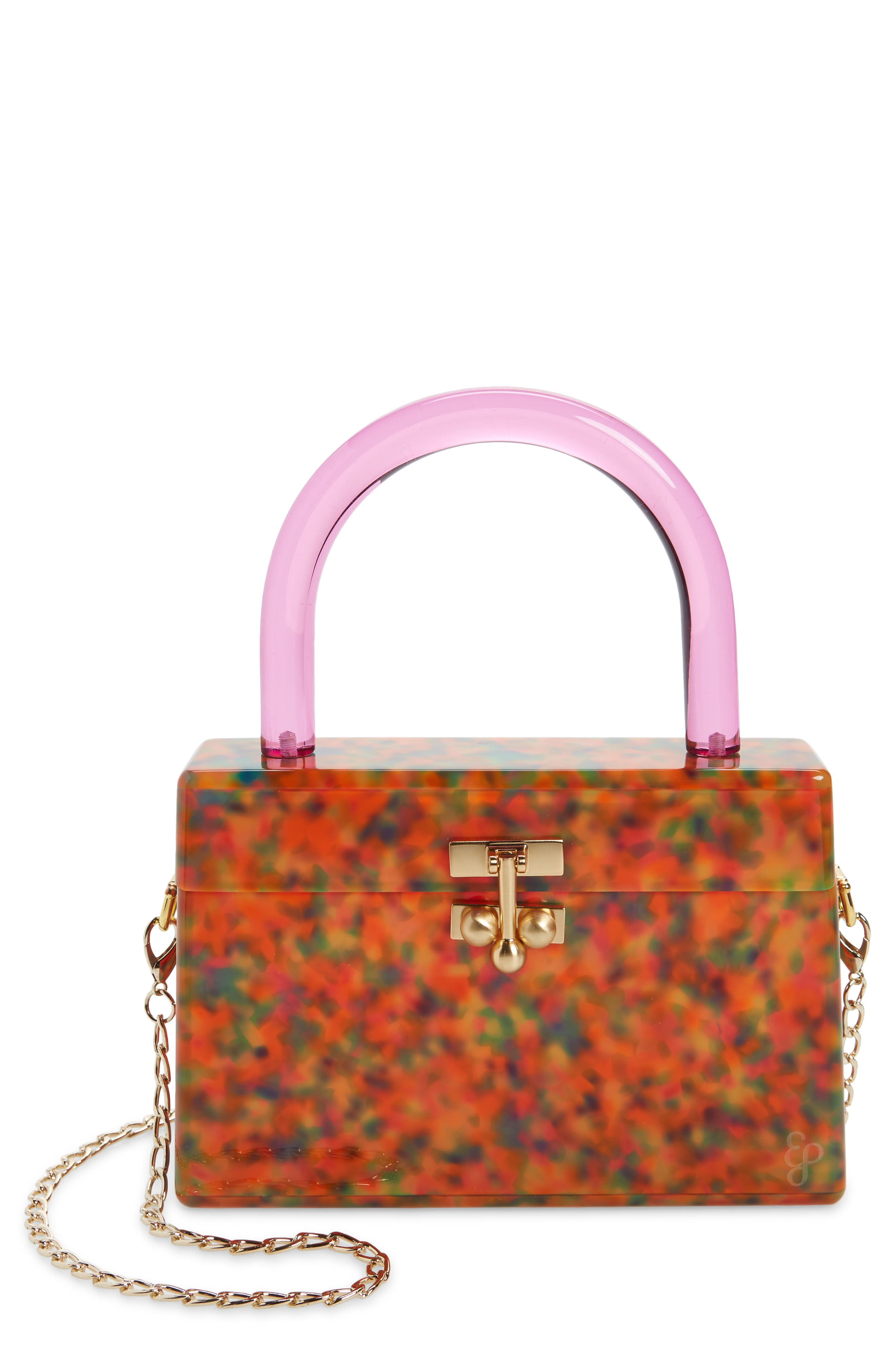 Edie Parker Miss Mini Acrylic Box Bag in Party Tortoise at Nordstrom
