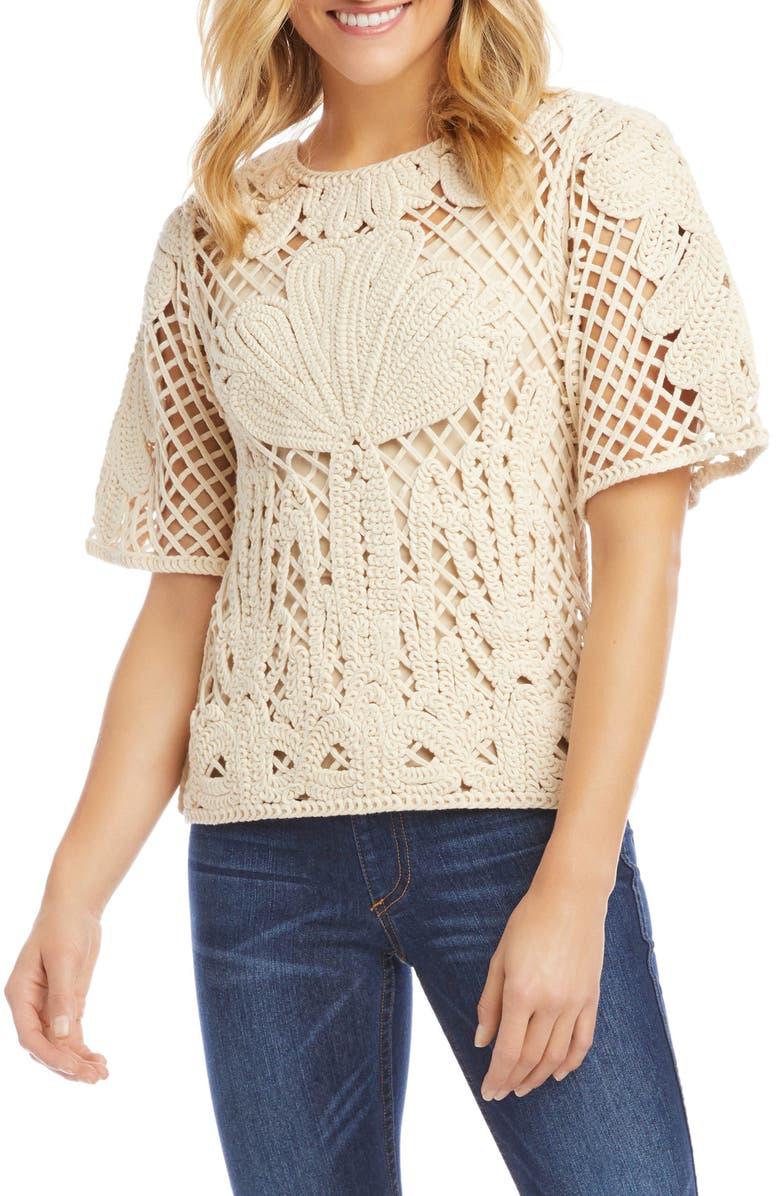 KAREN KANE Crochet Top, Main, color, 900