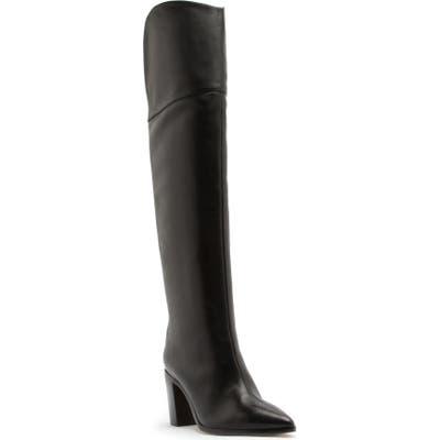Schutz Anaisha Pointed Toe Over The Knee Boot, Black