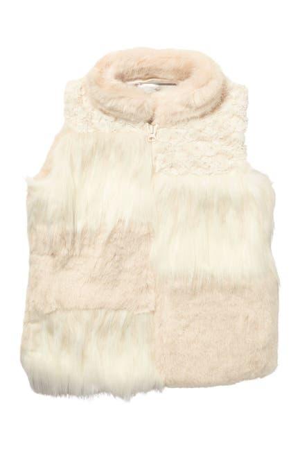 Image of WIDGEON Patchwork Shaggy Faux Fur Vest