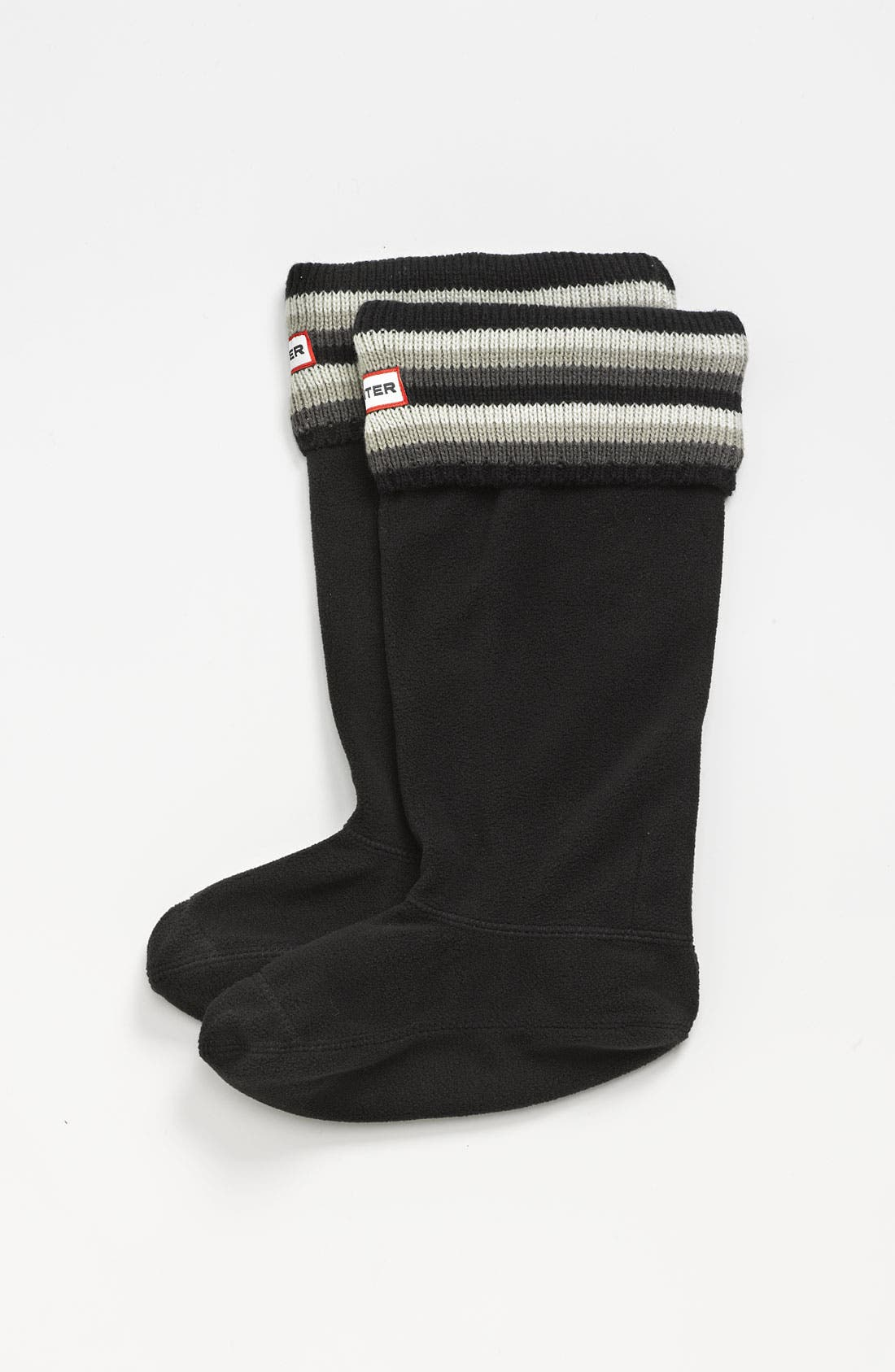 ,                             Tall Stripe Cuff Welly Socks,                             Main thumbnail 5, color,                             023