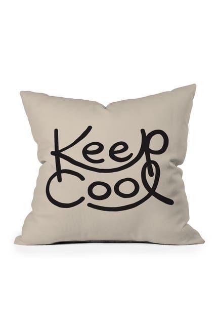 Image of Deny Designs Urban Wild Studio Keep Cool Square Throw Pillow