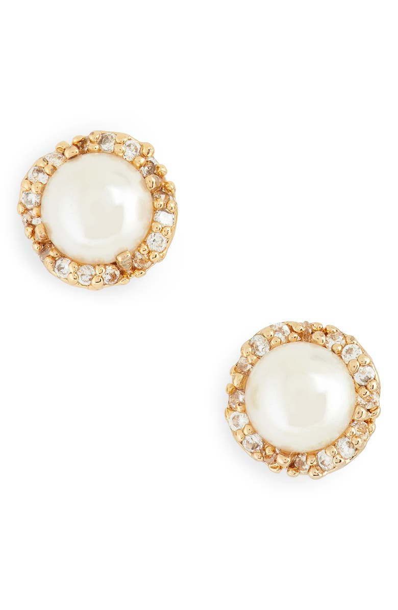 KATE SPADE NEW YORK that sparkle stud earrings, Main, color, CREAM/ GOLD