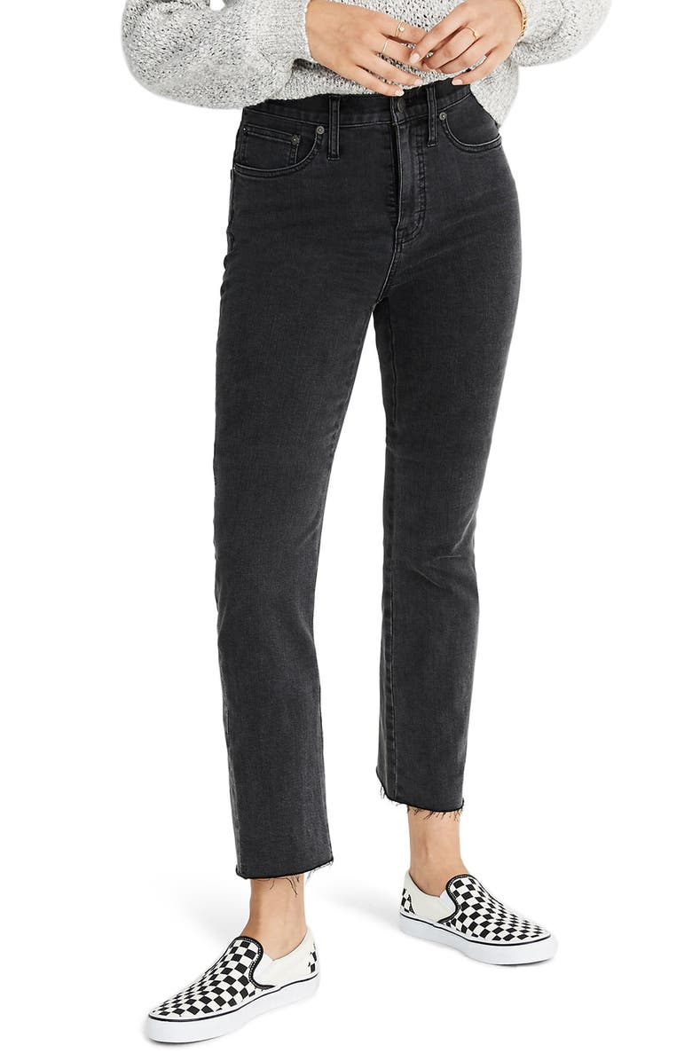 MADEWELL Cali Demi-Bootcut Jeans, Main, color, HOLLINDALE WASH