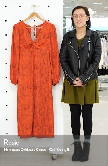 Animal Print Long Sleeve Maxi Dress, sales video thumbnail