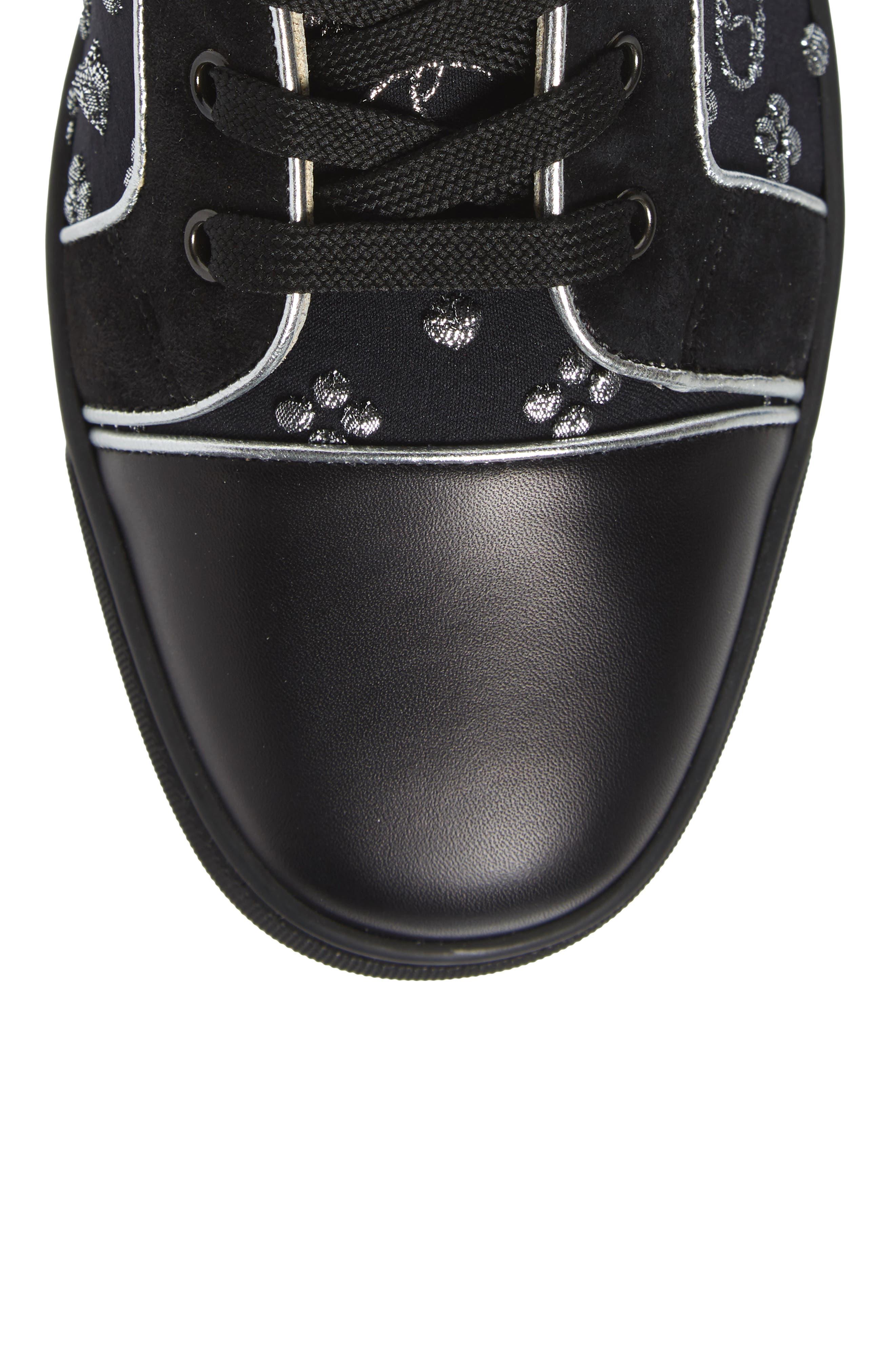 ,                             Louis Orlato High Top Sneaker,                             Alternate thumbnail 5, color,                             BLACK/SILVER