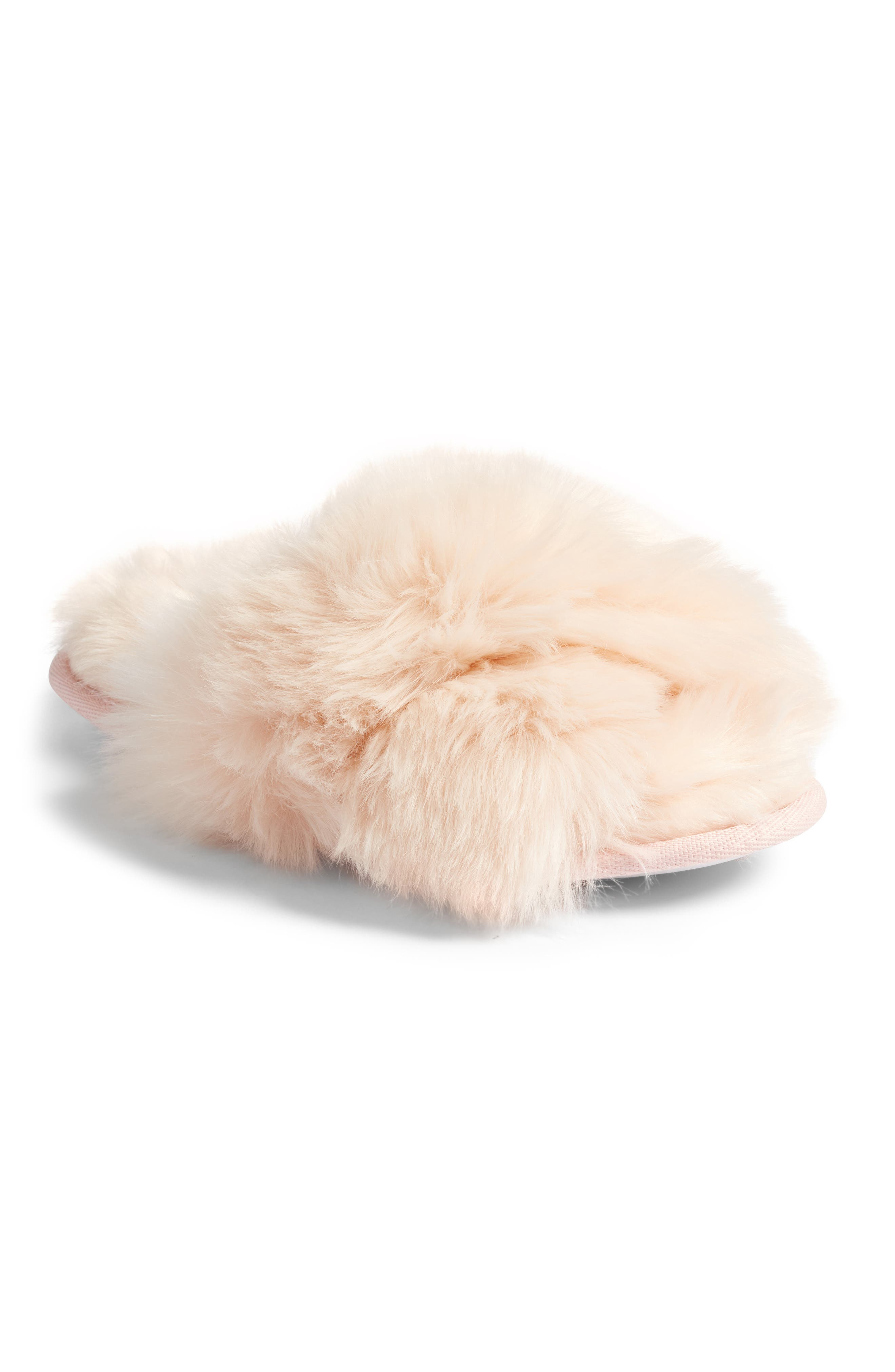 ,                             Cuddle Plush Faux Fur Scuff Slipper,                             Main thumbnail 15, color,                             650