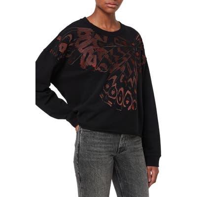 Allsaints High/low Sweatshirt, Black