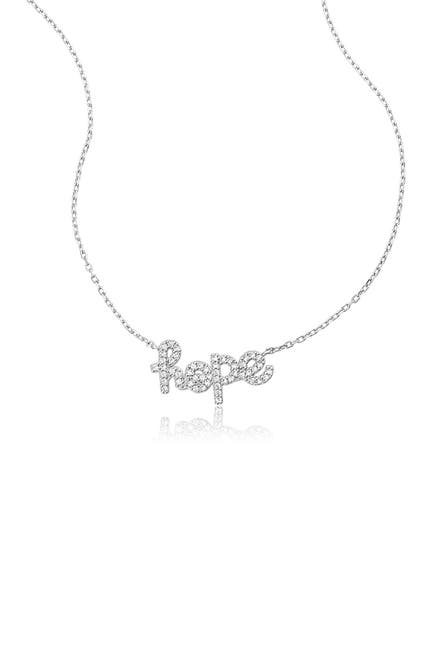Image of ADORNIA Rhodium Plated Sterling Silver Cursive 'Hope' Necklace