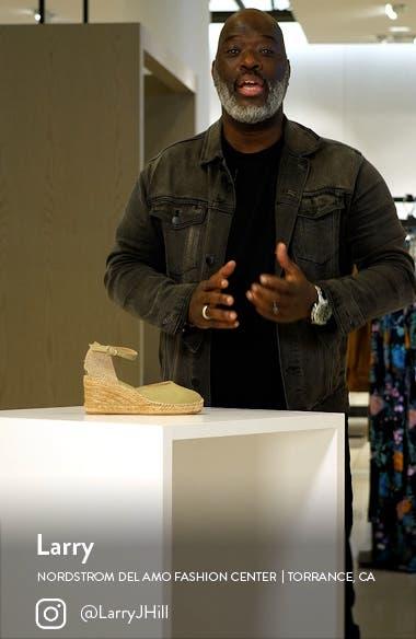 'Caldes' Linen Wedge Sandal, sales video thumbnail