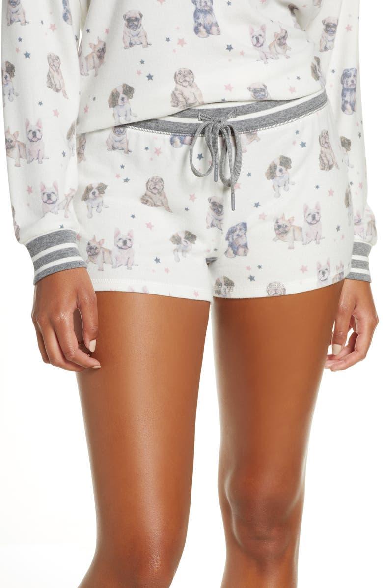 PJ SALVAGE Pawfection Pajama Shorts, Main, color, IVORY