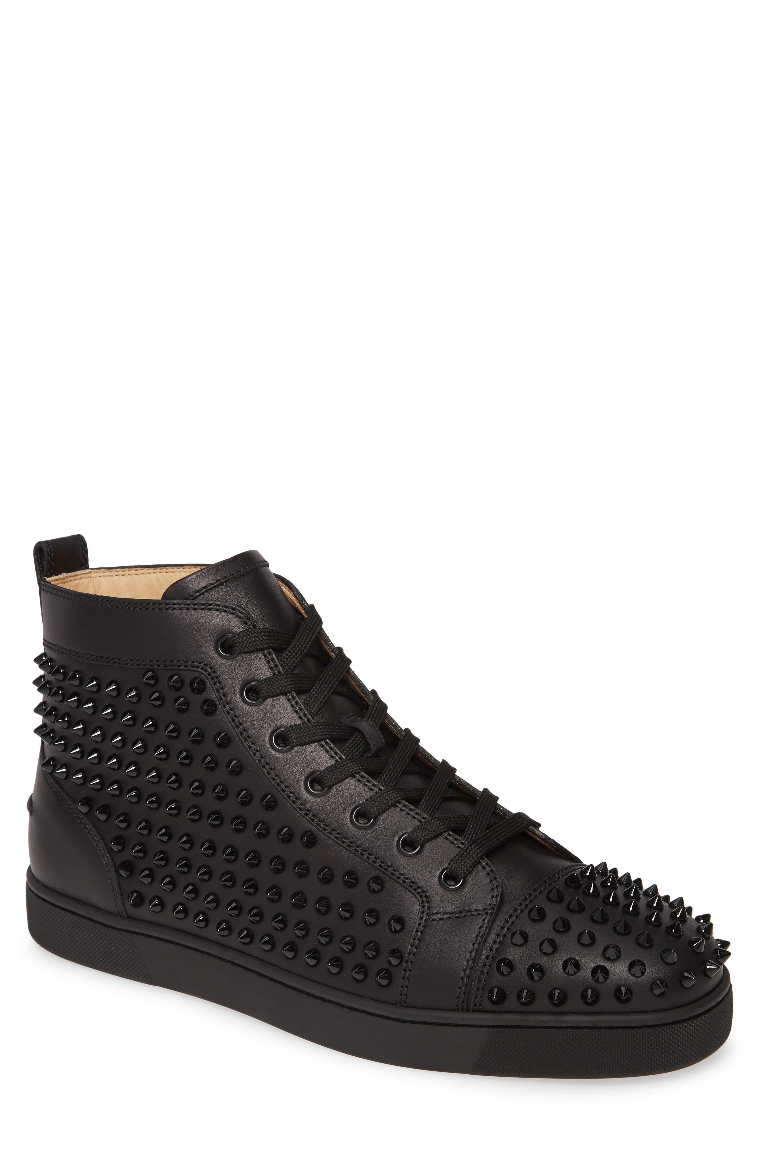 louboutin high top spikes