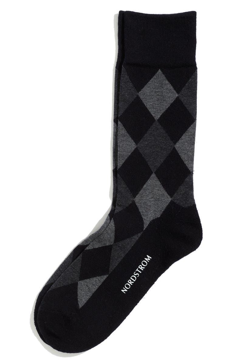 NORDSTROM 'Cushion Foot' Socks, Main, color, 001
