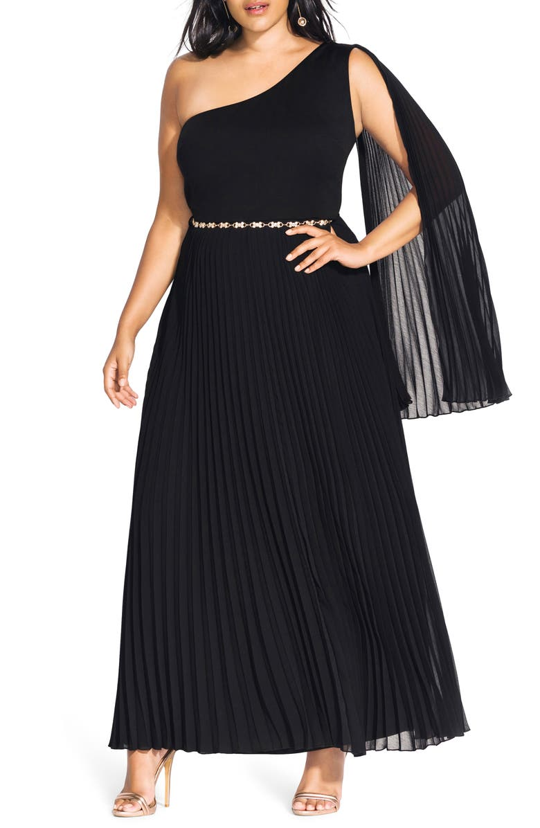 Paramount One-Shoulder Maxi Dress