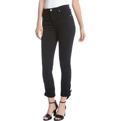 Karen Kane Crop Tie Hem Jeans, Black