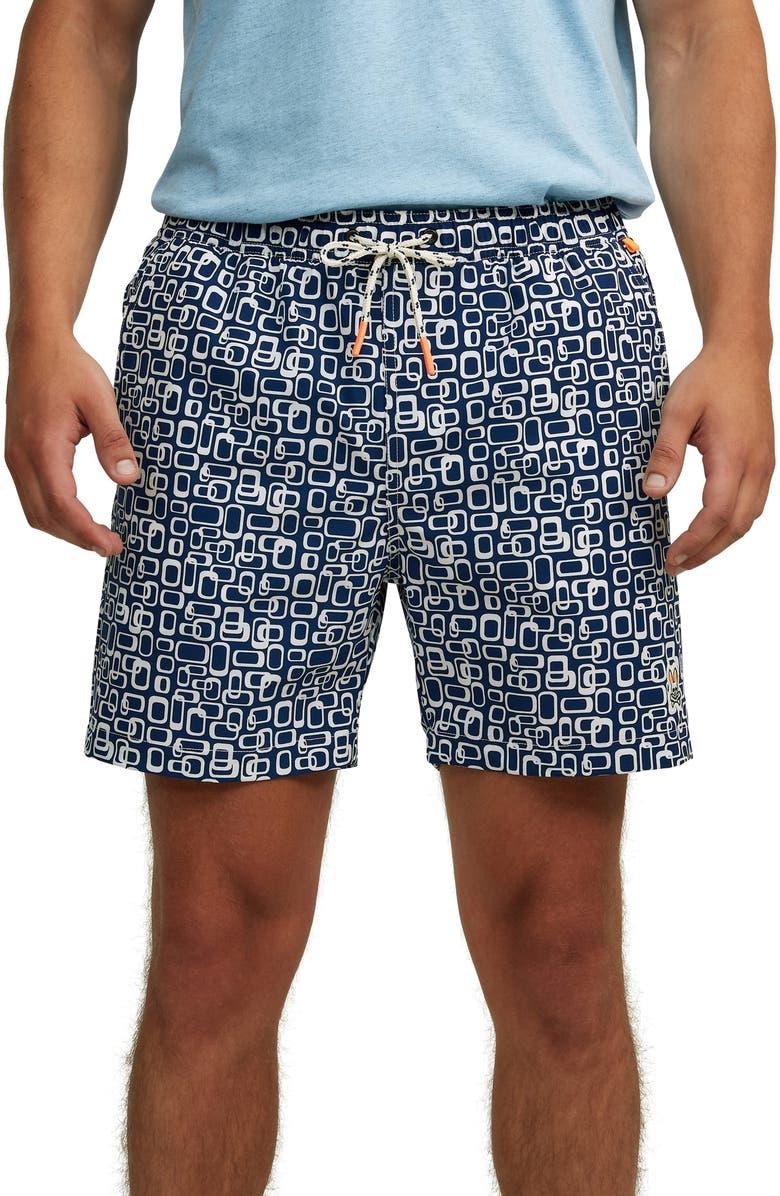 PSYCHO BUNNY Shanklin Swim Trunks, Main, color, 418 VELVET