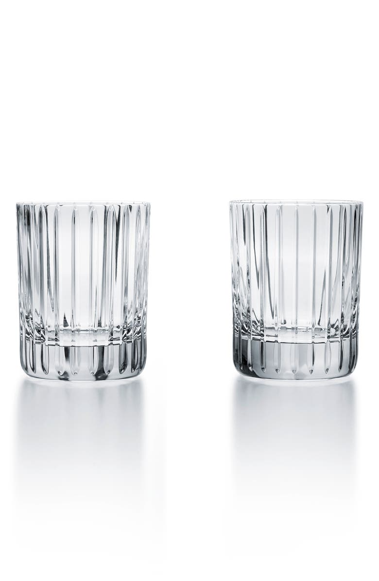 BACCARAT Harmonie 1 Set of 2 Lead Crystal Tumblers, Main, color, CLEAR