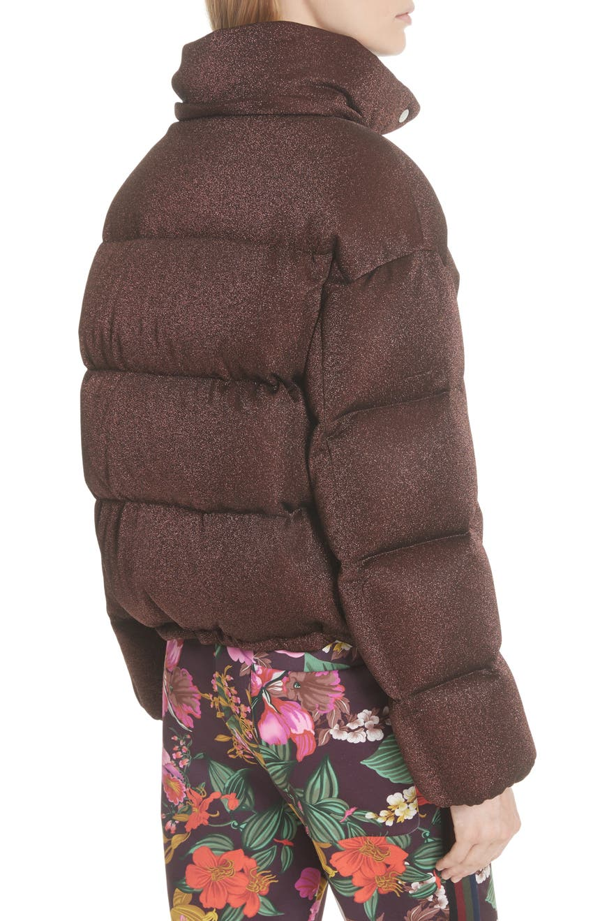 338f08ac4 Moncler Caille Metallic Quilted Down Jacket | Nordstrom