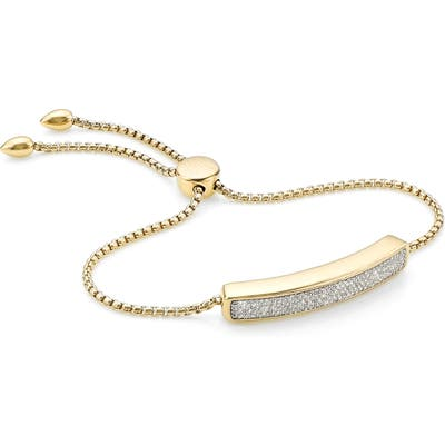 Monica Vinader Engravable Baja Diamond Bracelet