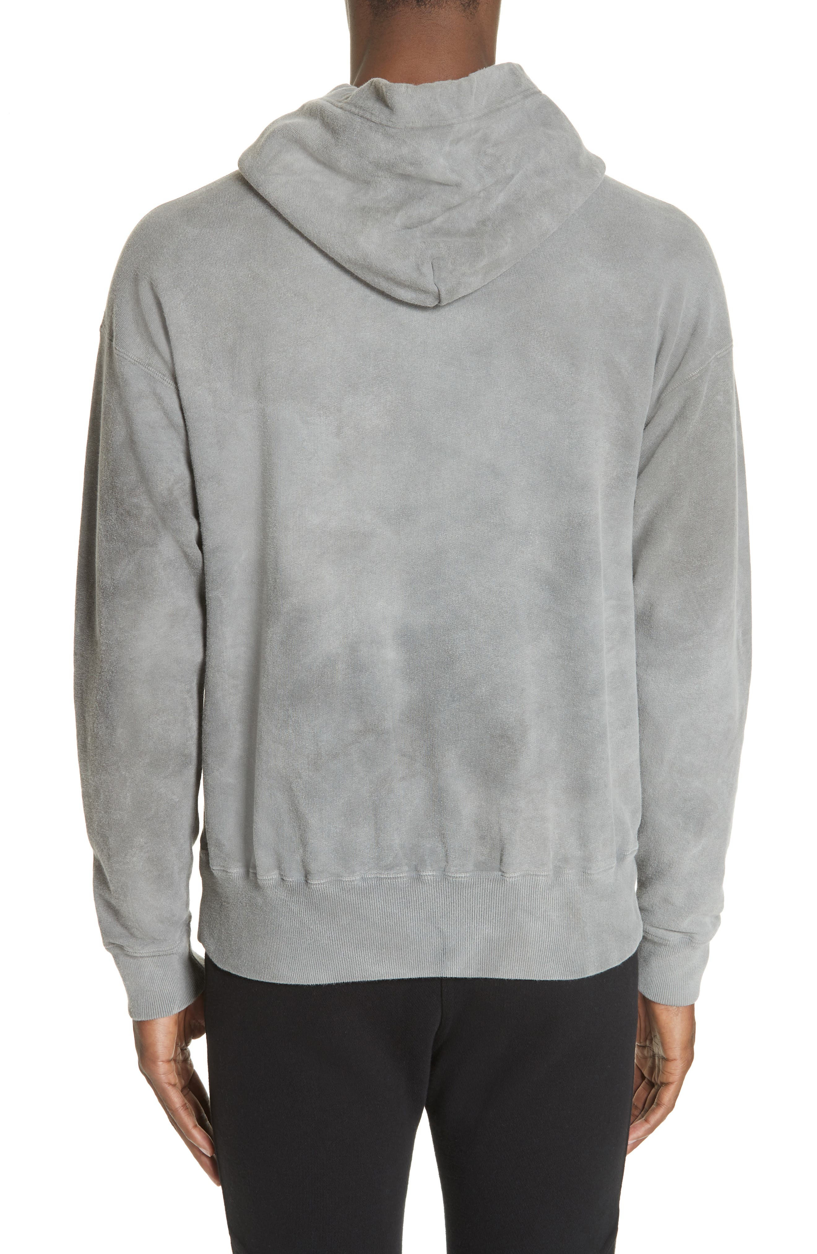 ,                             x Nordstrom Chrome Pullover Hoodie,                             Alternate thumbnail 2, color,                             WASHED BLACK