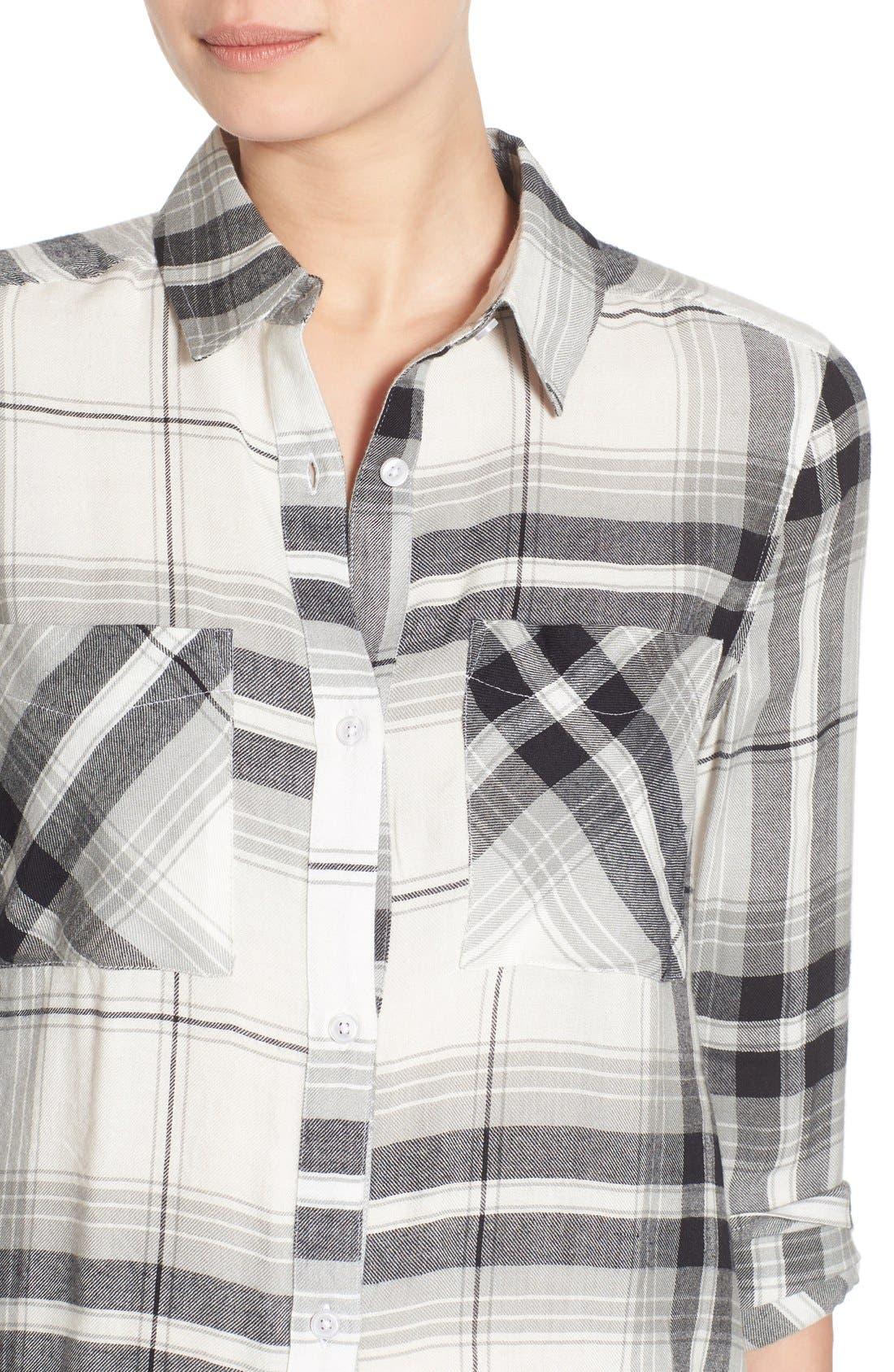 ,                             Plaid Tunic Shirt,                             Alternate thumbnail 42, color,                             900