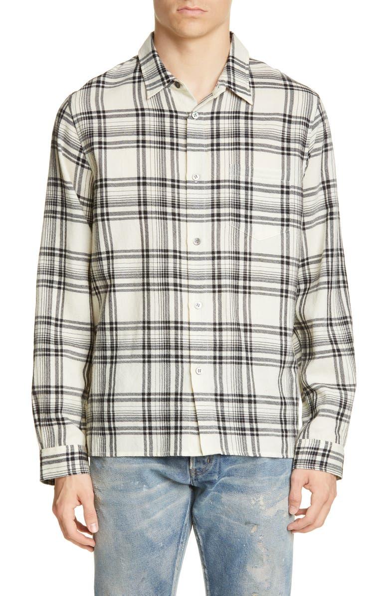 JOHN ELLIOTT Plaid Flannel Button-Up Shirt, Main, color, 900