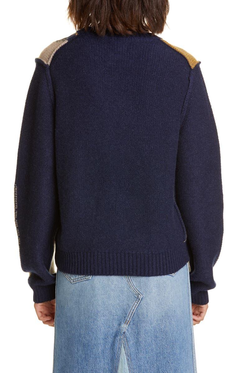KHAITE Erique Argyle Cashmere Sweater, Main, color, CAMO ARGYLE