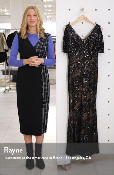 Sequin Lace Cold Shoulder Trumpet Gown, sales video thumbnail