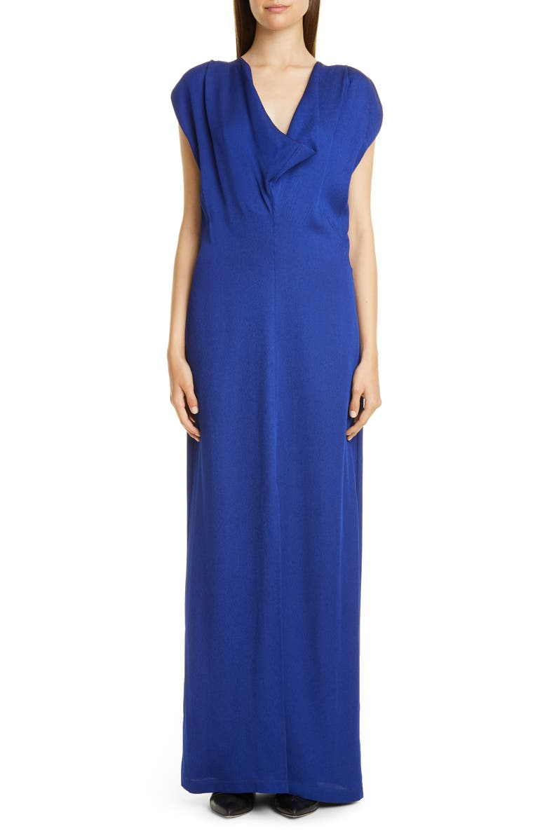 ZERO + MARIA CORNEJO Vera Eco Drape Maxi Dress, Main, color, ULTRA VIOLET