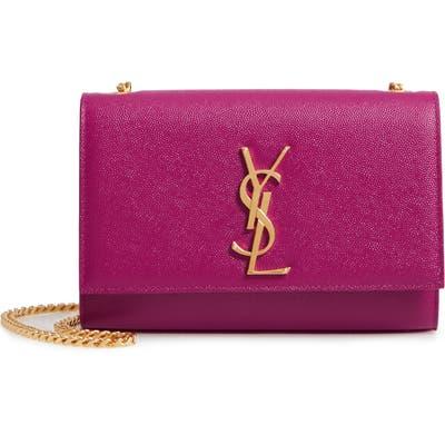 Saint Laurent Small Kate Chain Crossbody Bag - Purple