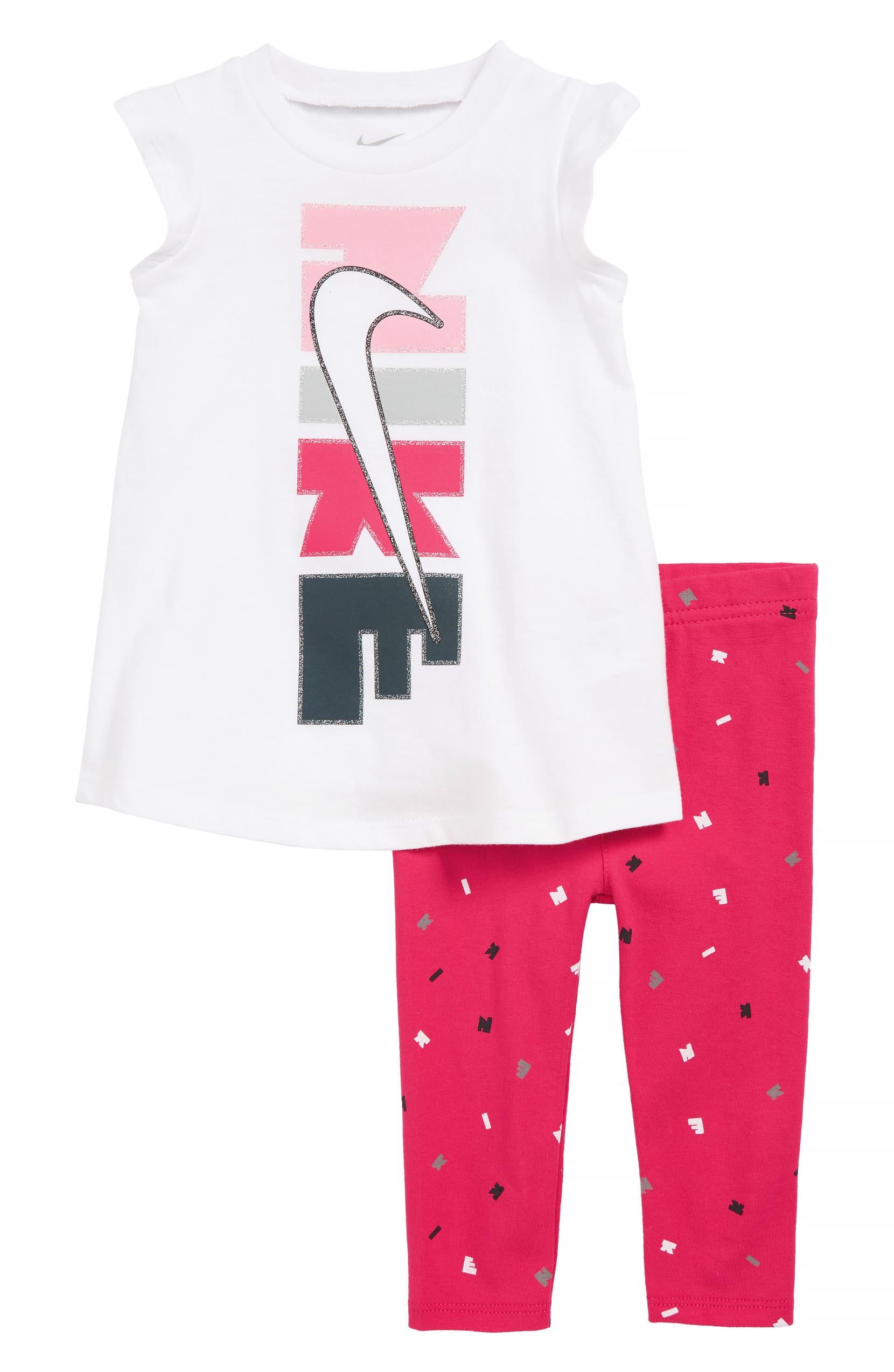 new appearance low price latest design Logo Graphic Tunic & Print Leggings Set