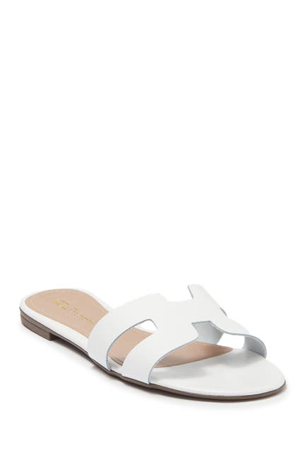 Image of CL by Laundry Artist Leather Slide Sandal
