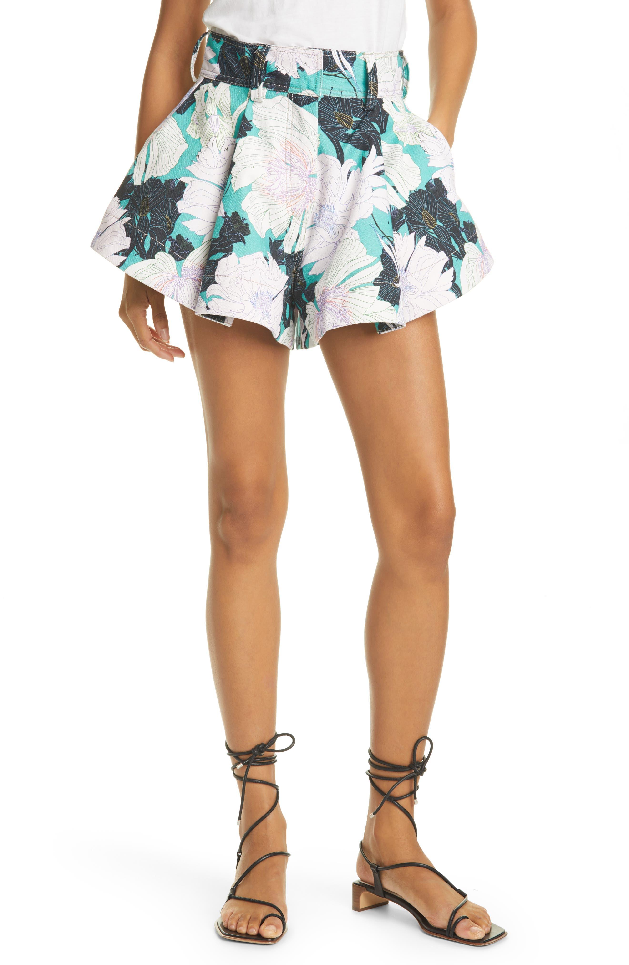 Floral Print Cabana Shorts