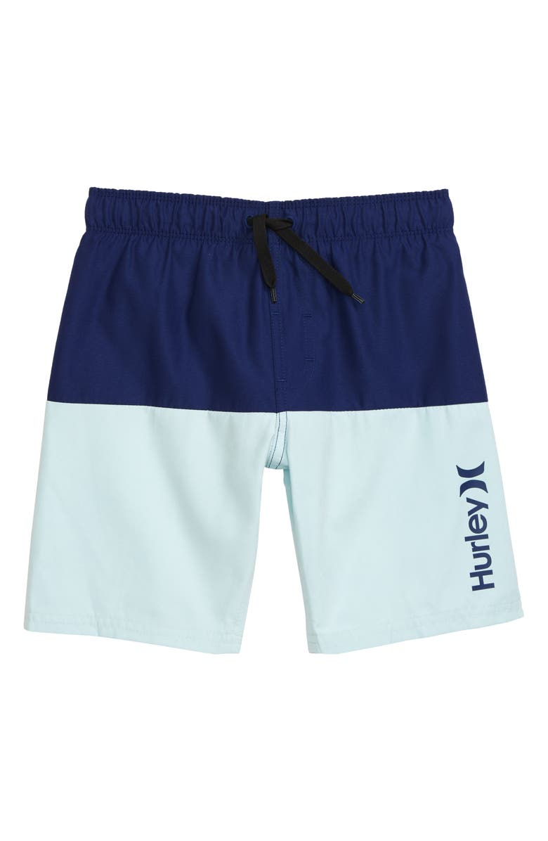 HURLEY Colorblock Swim Trunks, Main, color, DEEP ROYAL BLUE