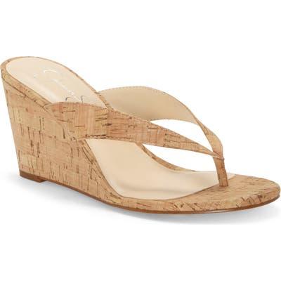 Jessica Simpson Coyrie Wedge Flip Flop, Beige
