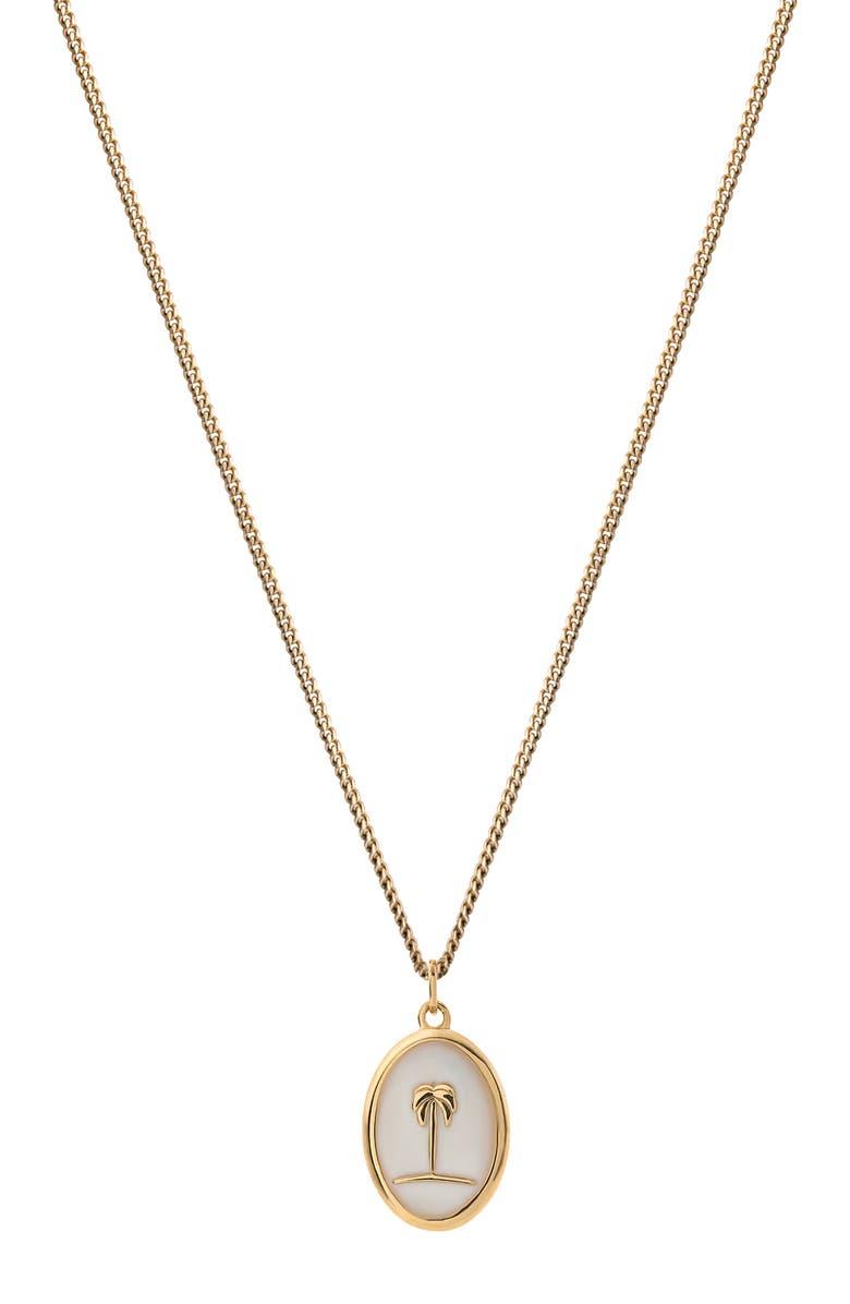 MIANSAI x Museum of Ice Cream Mini Palm Pendant Necklace, Main, color, OFF WHITE