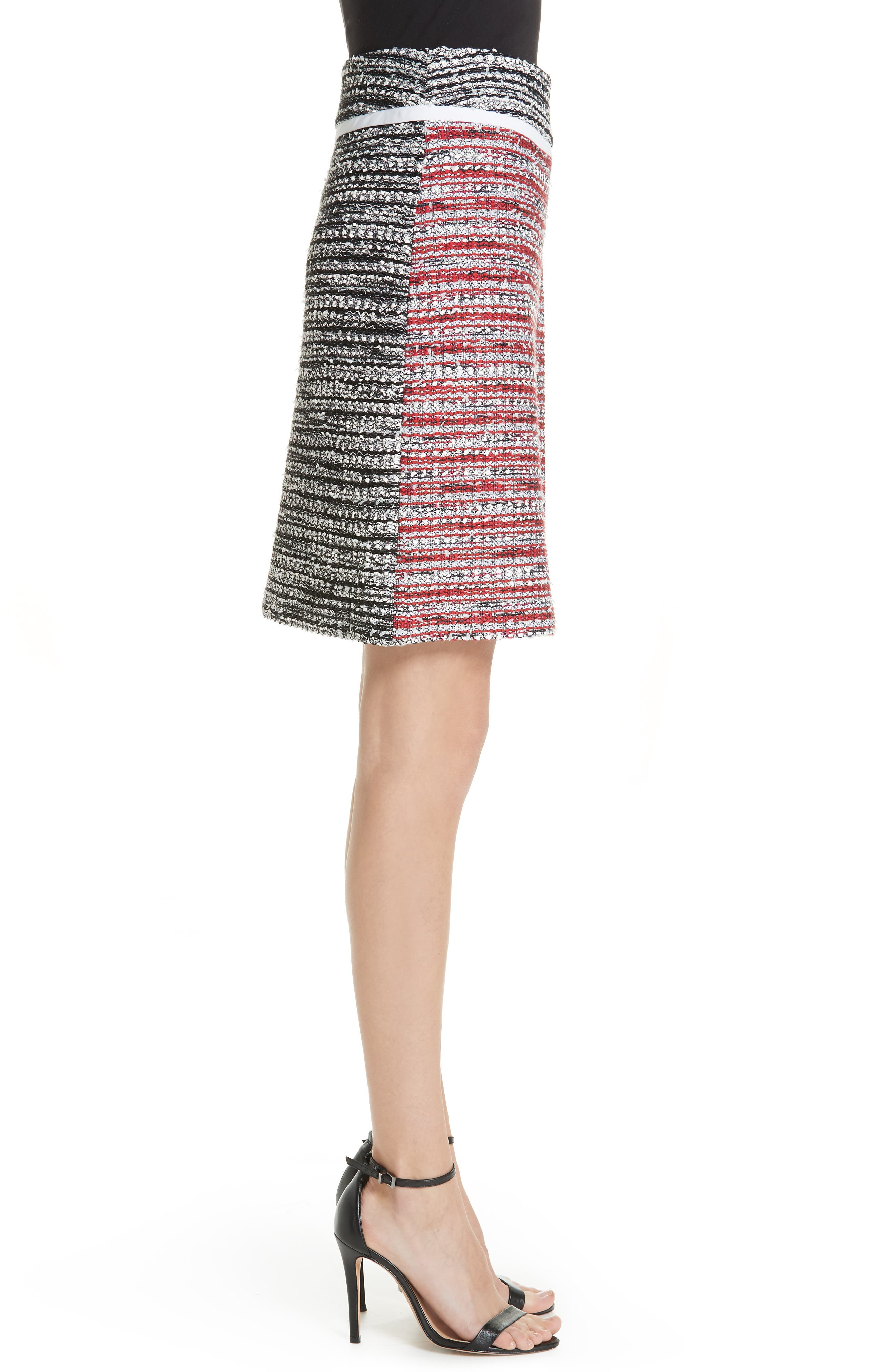 ,                             Amelia Knit Skirt,                             Alternate thumbnail 3, color,                             CAVIAR MULTI