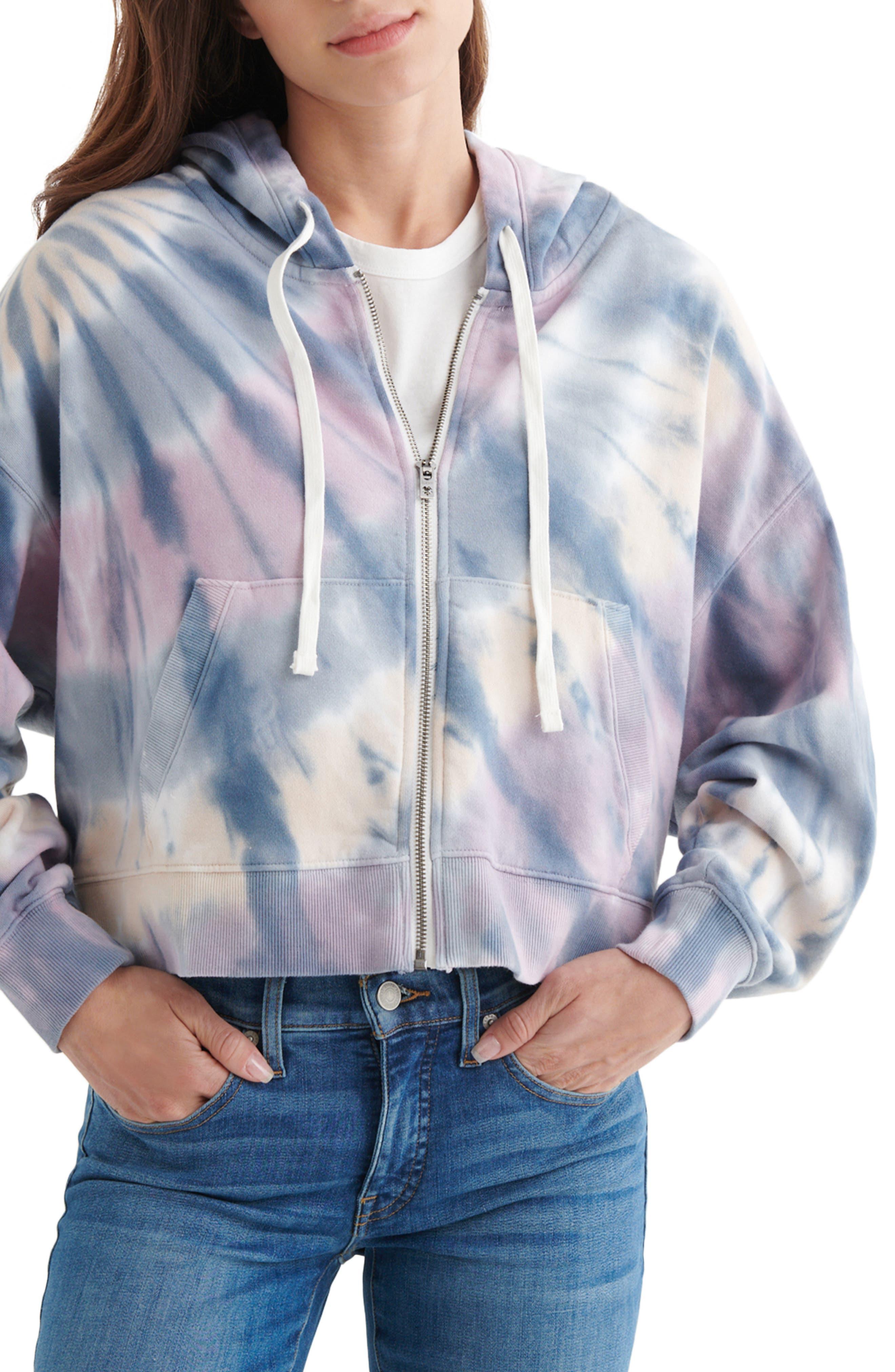 Boxy Zip Hooded Sweatshirt