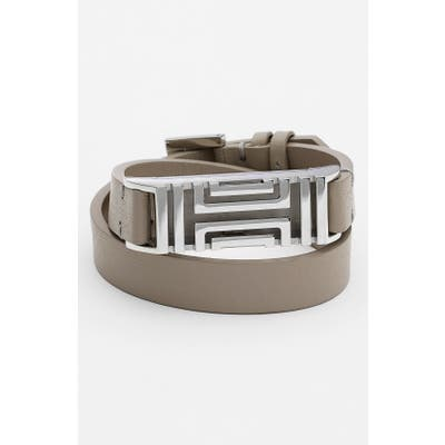 Tory Burch For Fitbit Leather Wrap Bracelet