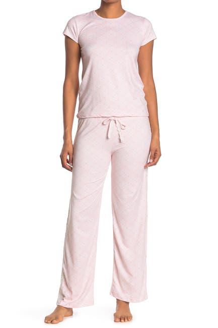 Image of Kathy Ireland Lace Trim 2-Piece Pajama Set