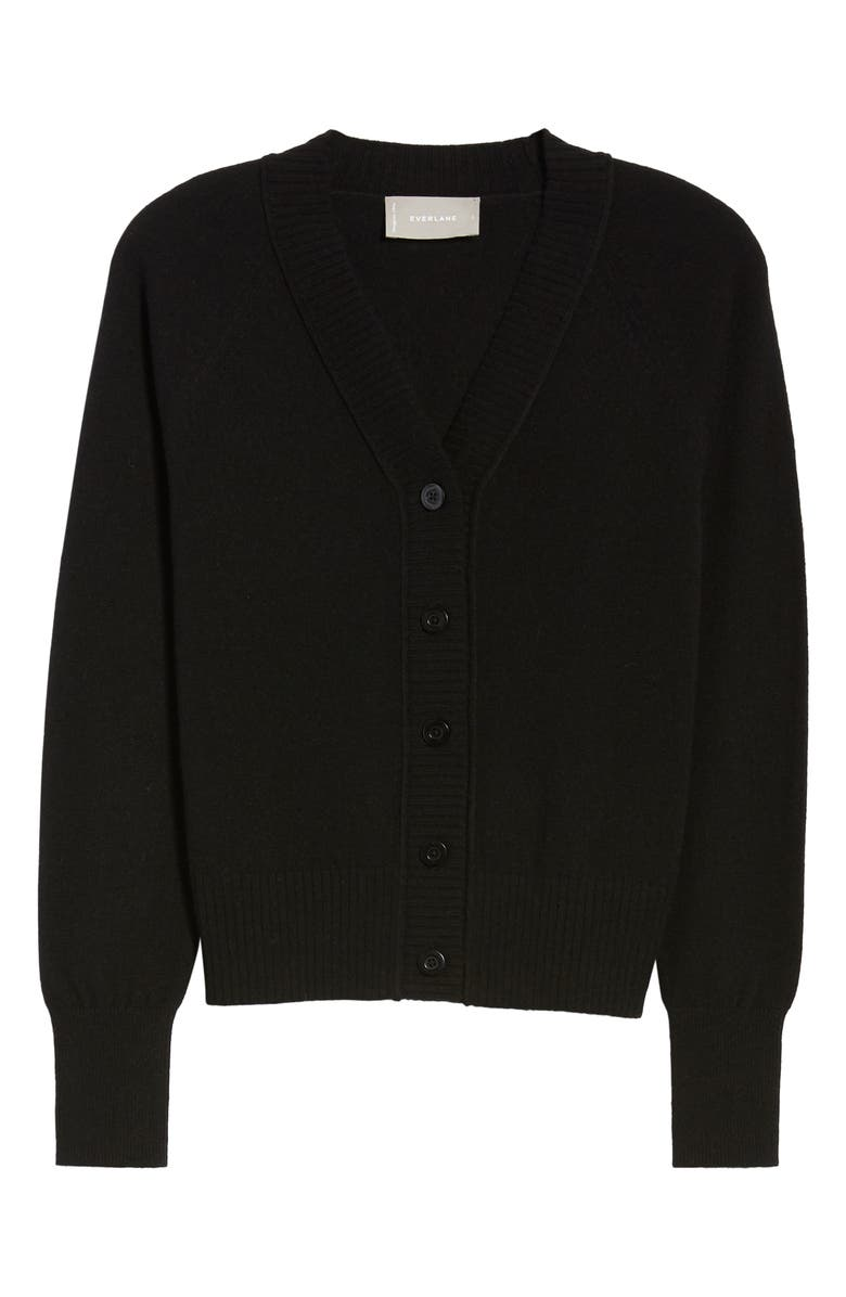 EVERLANE The ReCashmere Varsity Cardigan, Main, color, 001